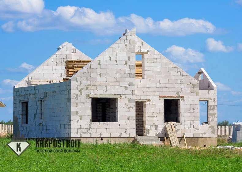 Строим дом из силикатного блока своими руками