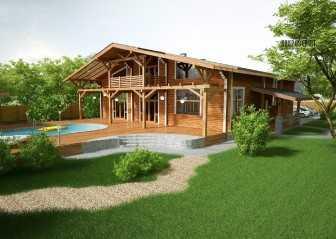 Схема дома из бруса