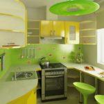 Сочетание зеленого и желтого