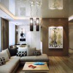 Цветовое оформление современной гостиной