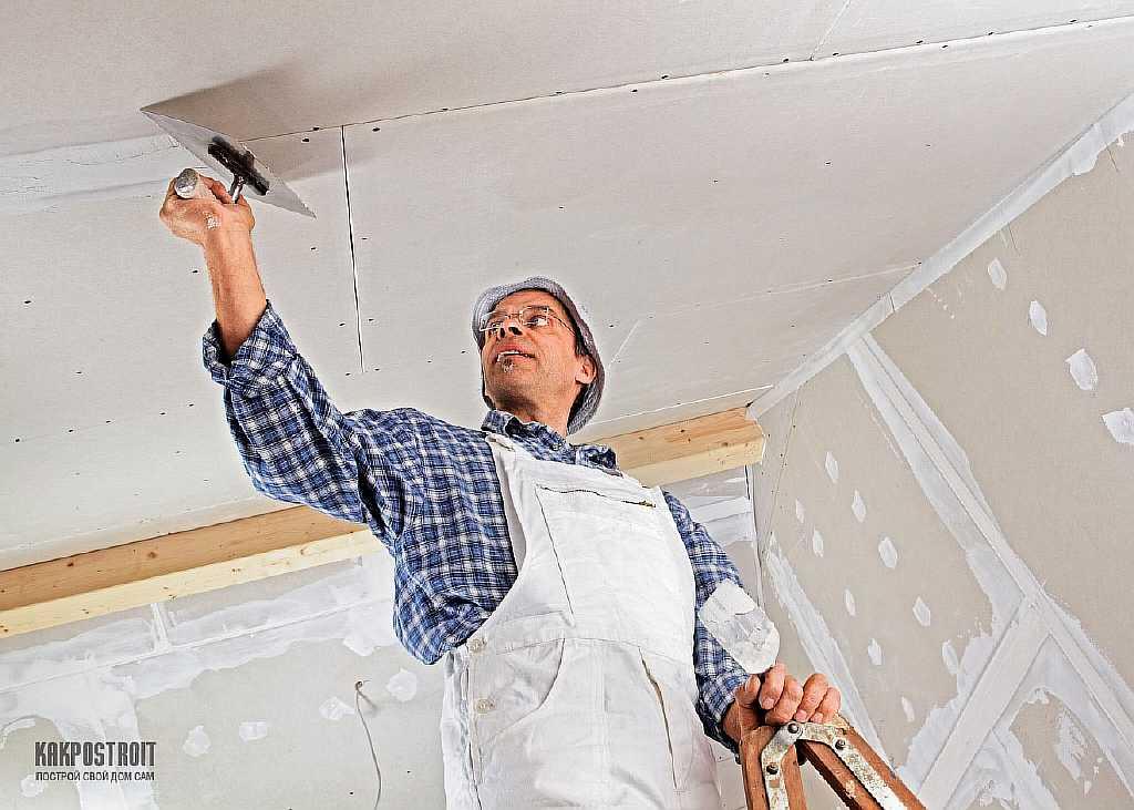 Шпаклёвка потолка в квартире своими руками