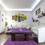 Сочетание цветов в интерьер: фиолетовый