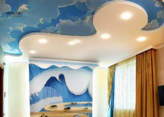 Натяжные тканевые потолки: фото в интерьере
