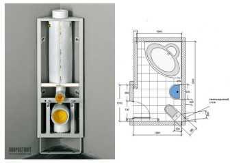 Монтаж угловой инсталляции для унитаза