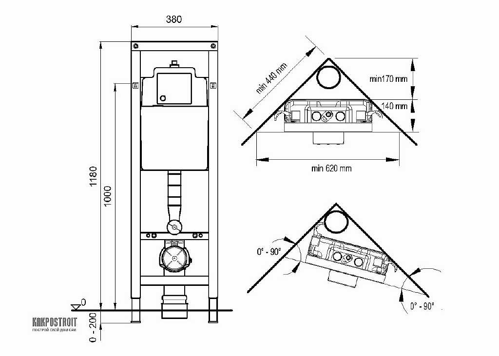 Схема инсталляции углового