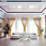 Натяжные потолки: фото интерьеров