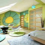 Декор стен в детской спальне