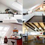 Фото-дизайн мансарды с кухней