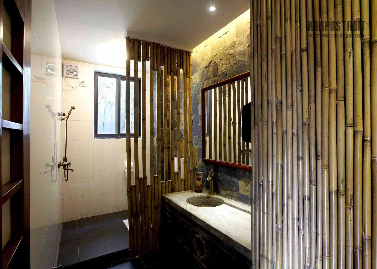 Bamboo bathroom