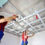 Одноуровневый подвеной потолок