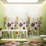 Дизайн плитки для ванной с рисунком