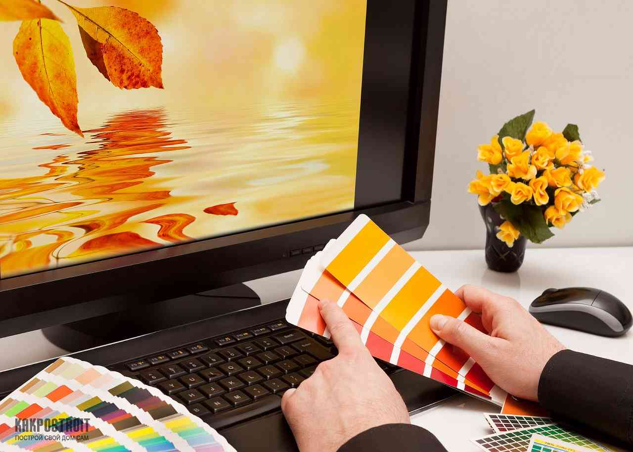 Подбор цвета дизайнерами