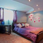 Многоуровневые потолки: фото в спальне