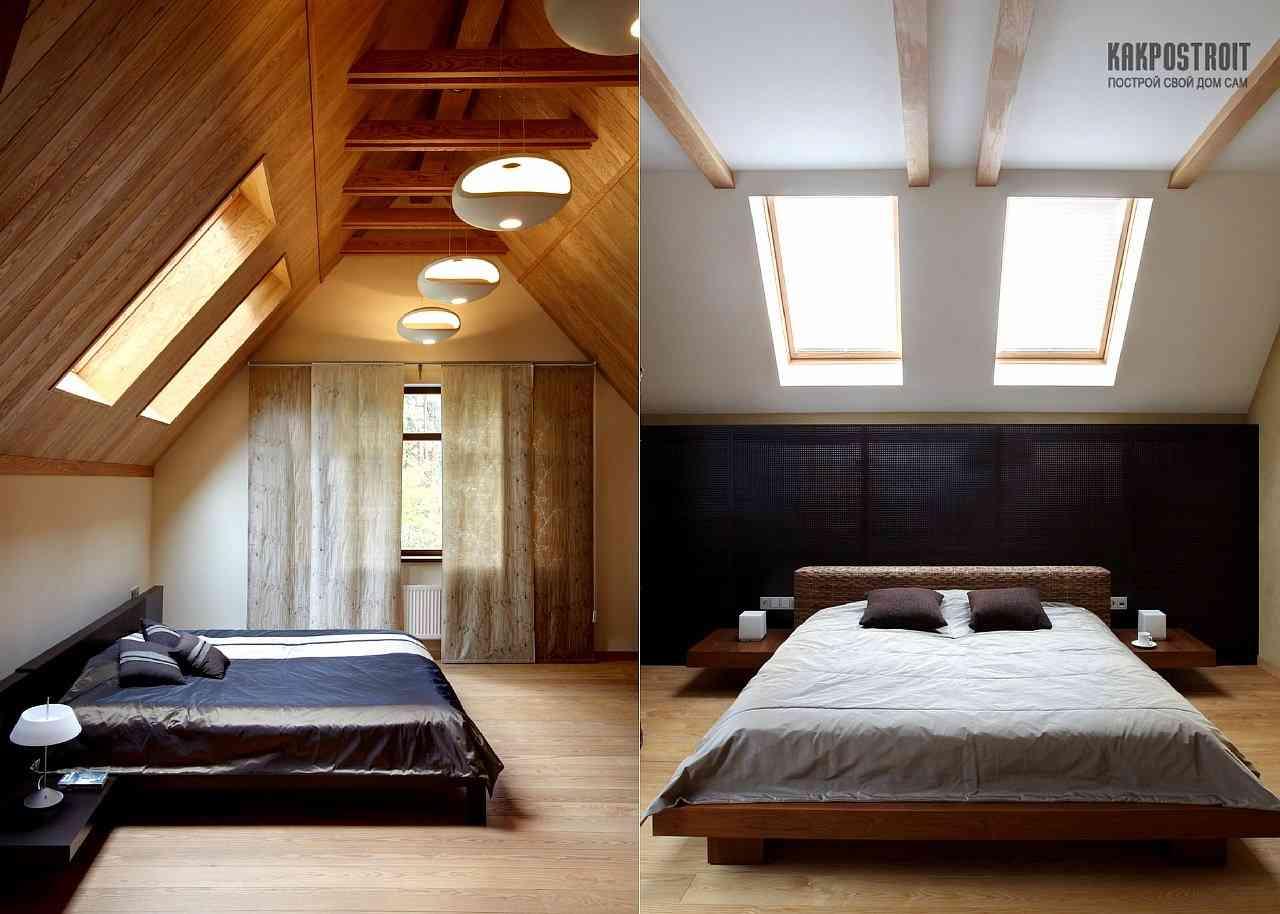 Спальня под крышей дизайн фото