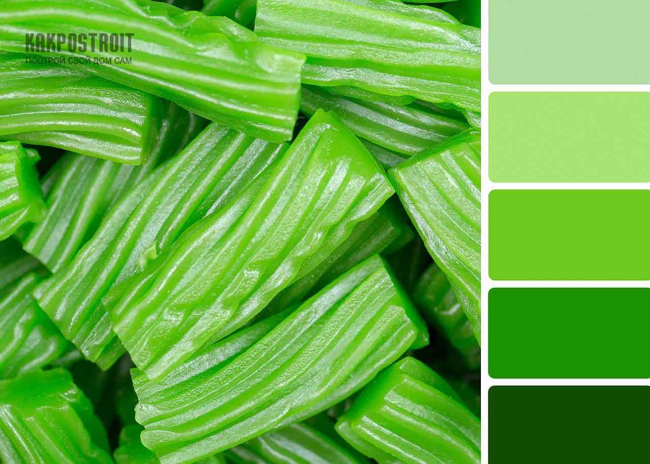 Сочетание цветов зеленый бархат