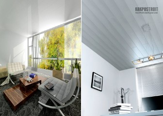 Недорогой способ отделки потолка