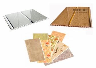 Пластиковые панели на потолок на кухне