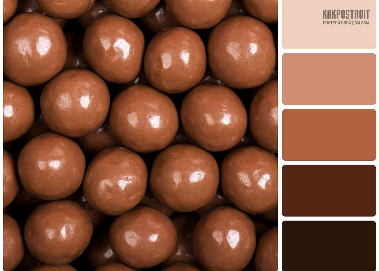 Цвет молочного шоколада в интерьере