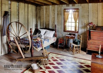 Простая экономия: деревенский интерьер в спальной комнате