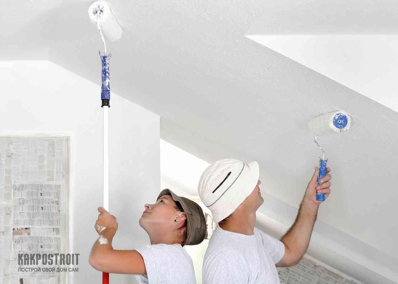 Как правильно покрасить потолок из гипсокартона