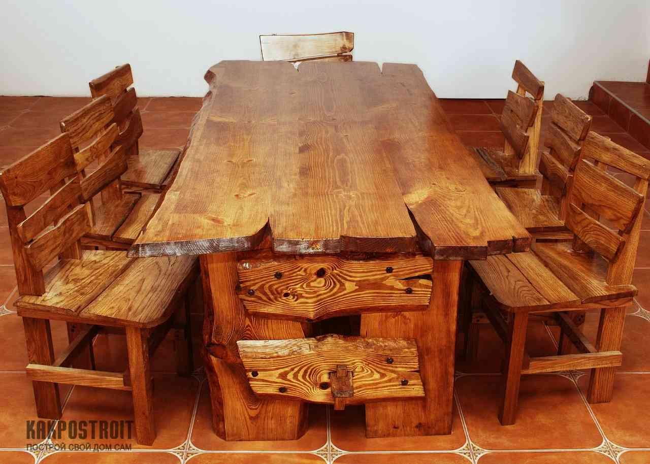Своими руками столы из дерева фото