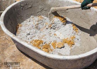 Пропорции бетонной смеси для круговой отмостки