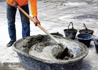 Как замесить бетон: пропорции компонентов