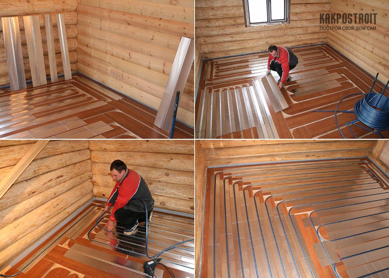 Как сделать на даче теплый пол