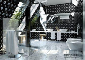 Оформление ванных комнат плиткой: фото и оригинальные решения