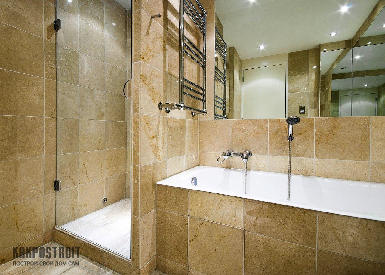 Ванная с душевой кабиной своими руками