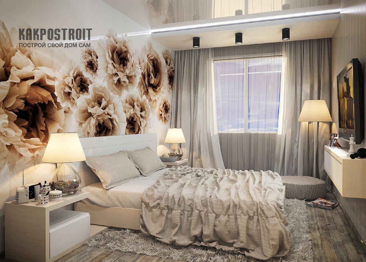 Дизайн интерьера маленькой спальни Фото проектов
