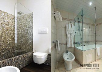 Преимущества ванной, комбинированной с душевой кабиной