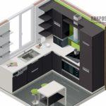 Как расставить мебель для маленькой кухни: фото и планы