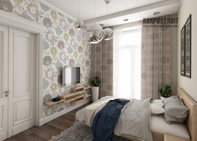 спальни дизайн обои фото