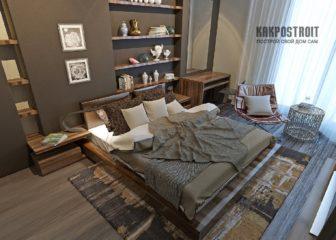 Обои для спальни: дизайн и фото