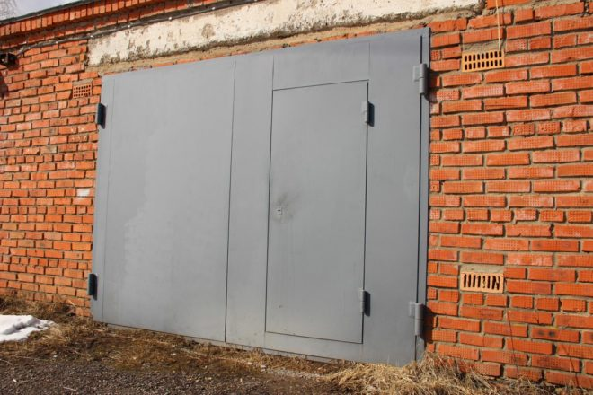 Как сделать железная дверь для гаража 816