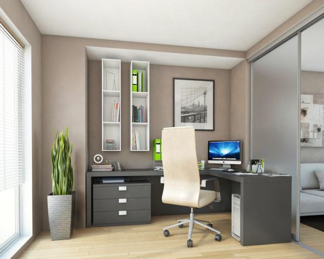 Серый цвет мебели в интерьере