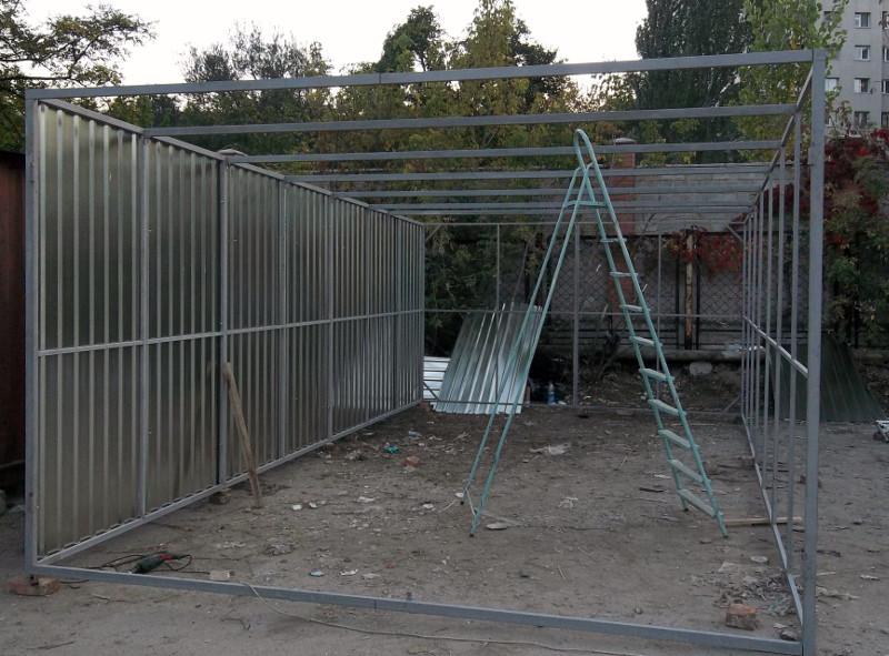Размер металлического гаража на одну машину