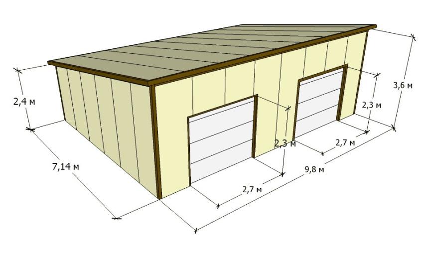 Погреб под гаражом как построить