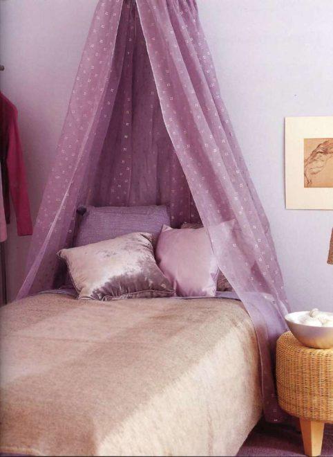Балдахин спальня сиреневый