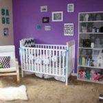 Фиолетовый в оформлении комнаты ребенка