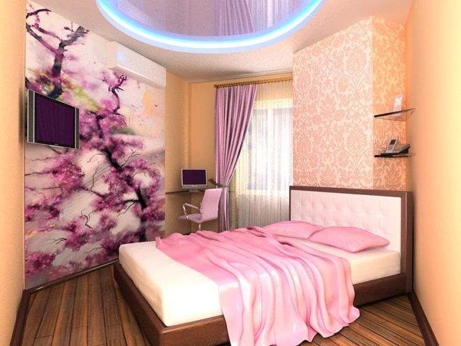 Фиолетовый спальня