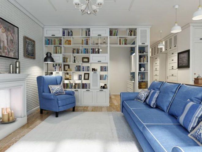 Гостиная в современной квартире