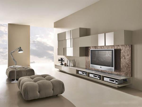 Планировка гостиной в стиле модерн