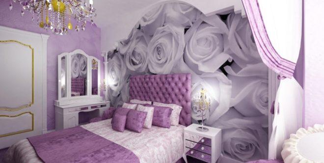 Дизайн в фиолетовых тонах фото