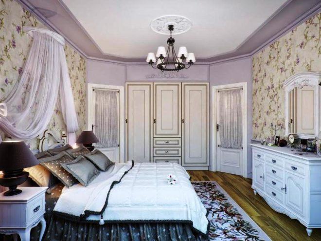 Спальня прованс лавандовый