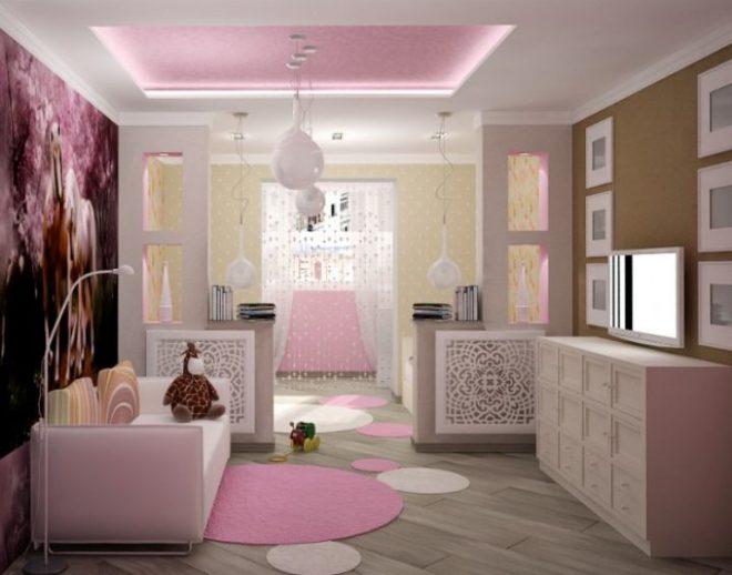 Розовая комната для девочек