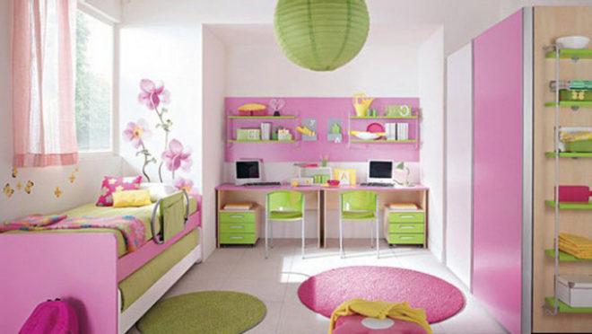 Нежная детская комната в розовых тонах