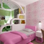 Комната для двух девочек с разным цветовым оформлением
