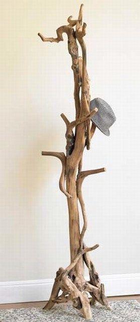 Вешалка-стойка из коряги